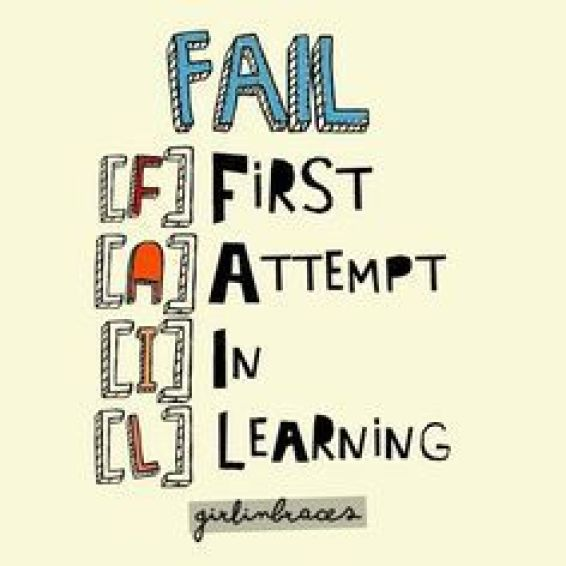Fail, First attempt in learning.Growth Mindset Quotes