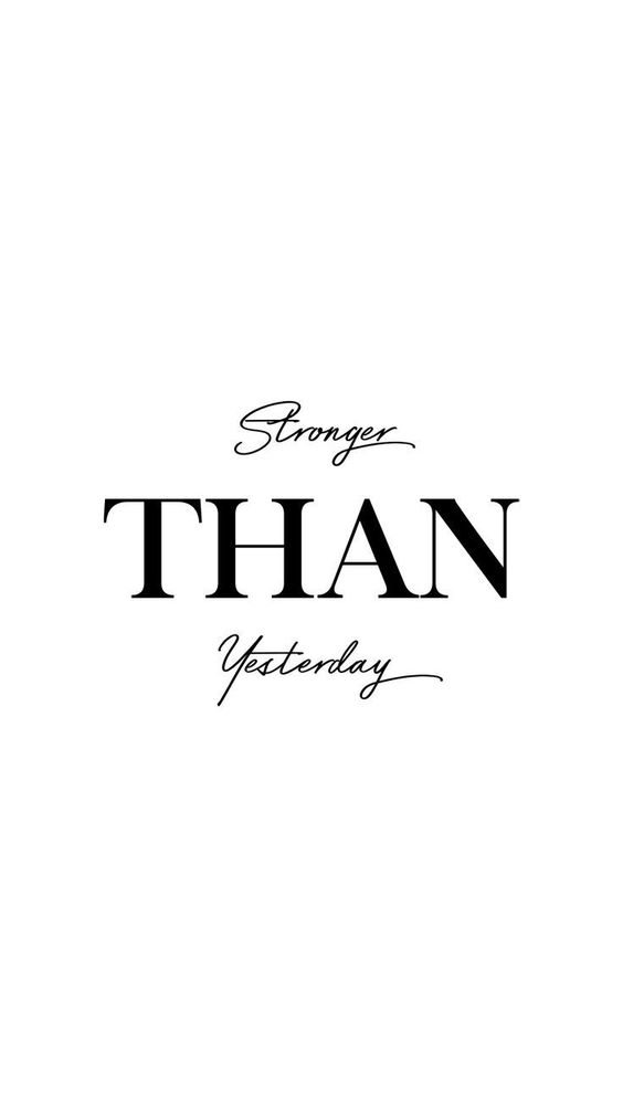 Stronger than yesterday.