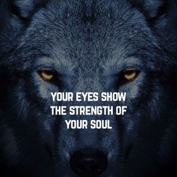 Your eyes show the strength of your soul. - Short Motivational Quotes