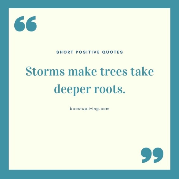 Storms make trees take deeper roots.- positive quotes for daily motivation
