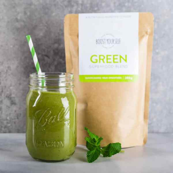 Healthy green smoothie superfoods