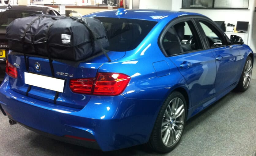 BMW 3 Series Roof Rack And Box Alternative   Boot Bag Vacation