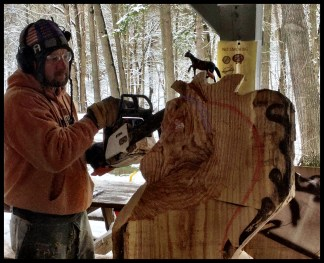Wood Carving Student