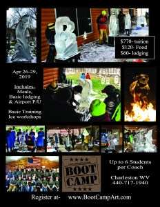 Ice Carving Basic Training Flyer - Earn Continuing Education Hours