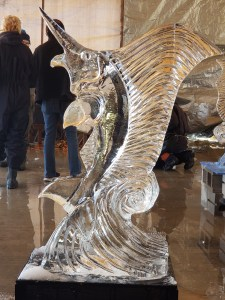 Student made Sail Fish Ice Carving