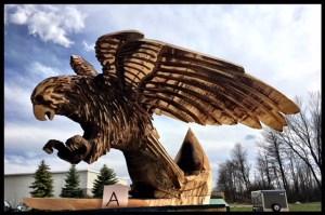 Eagle Wood Sculpture