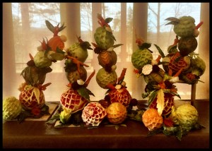 Fruit and Vegetable Carving Class Sculptures