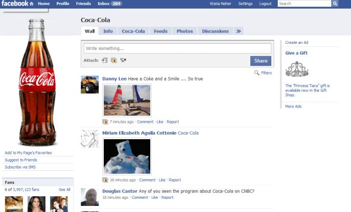 coke fan page