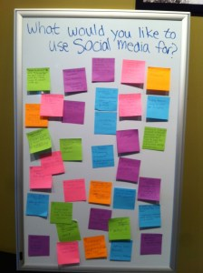 what would you like to use social media for