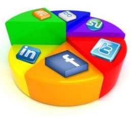 social media pie chart