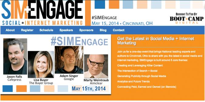 SIMEngage Cincinnati Social Media Conference