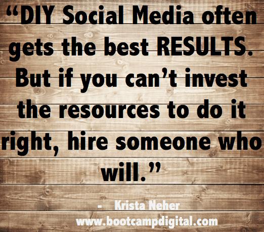 DIY social media vs hiring a social media agency