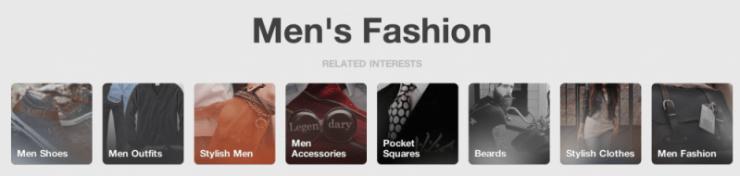 pinterest specialized interests