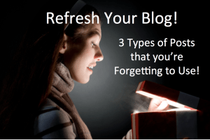 Refresh your blog