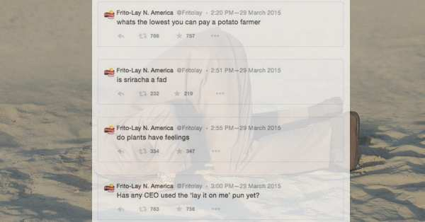 Lays CEO Tweets
