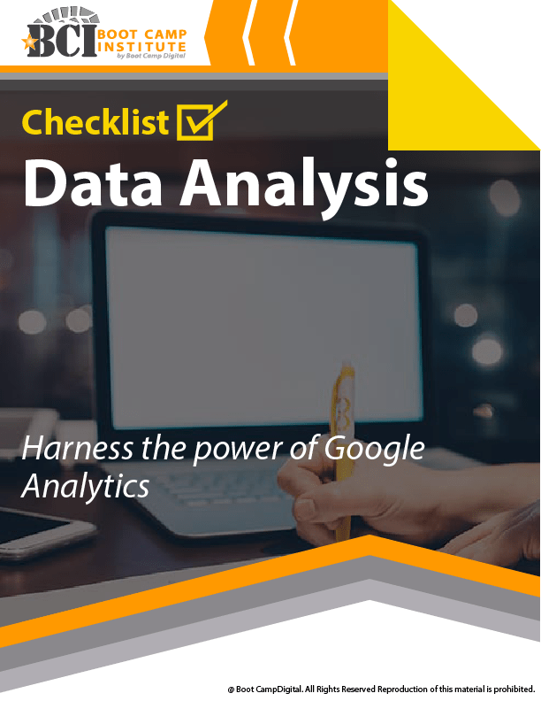 Checklist Data Analysis –Google Analytics