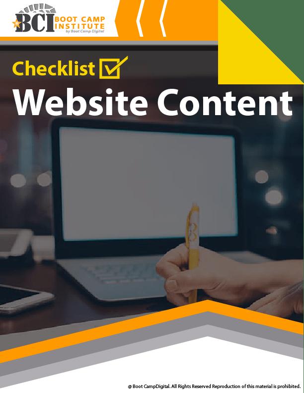 Checklist Website Content