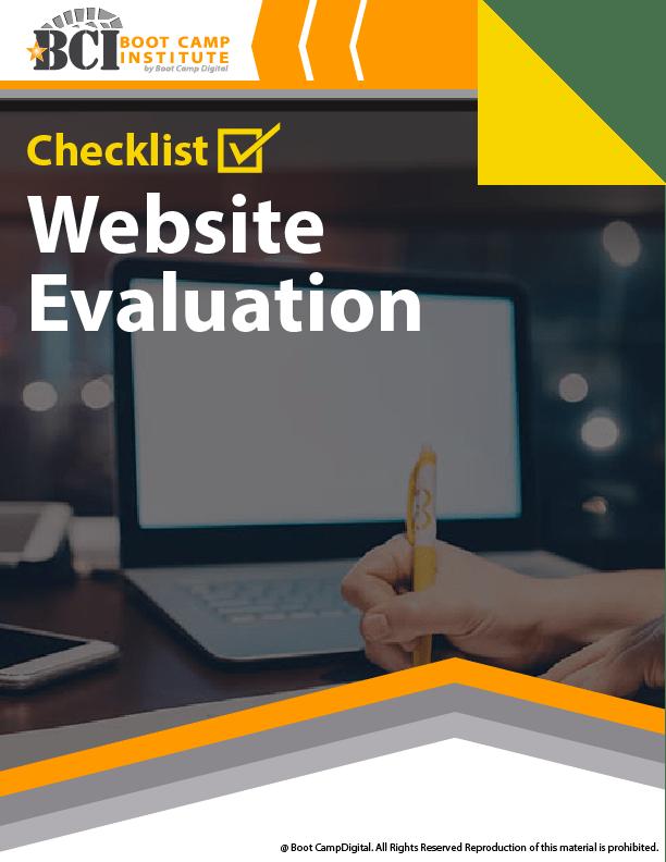 Checklist Website Evaluation