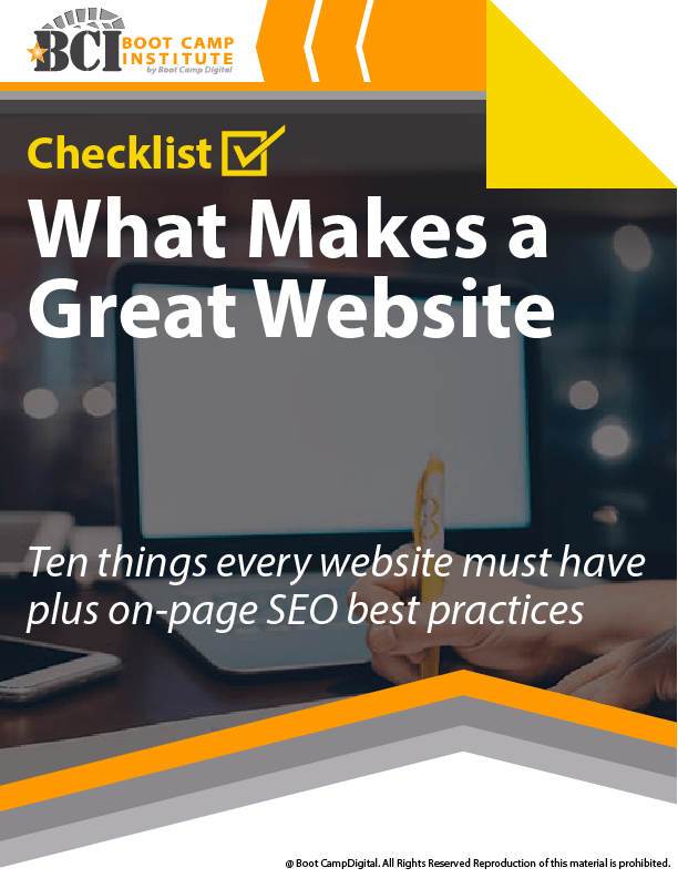 Checklist What Makes a Great Website