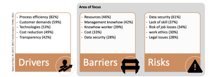 Digital transformation drivers, barriers and risks