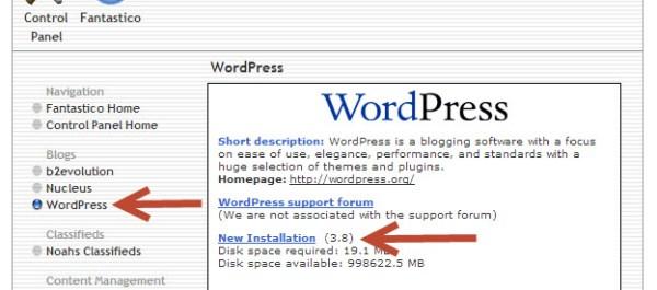 FDL wordpress install