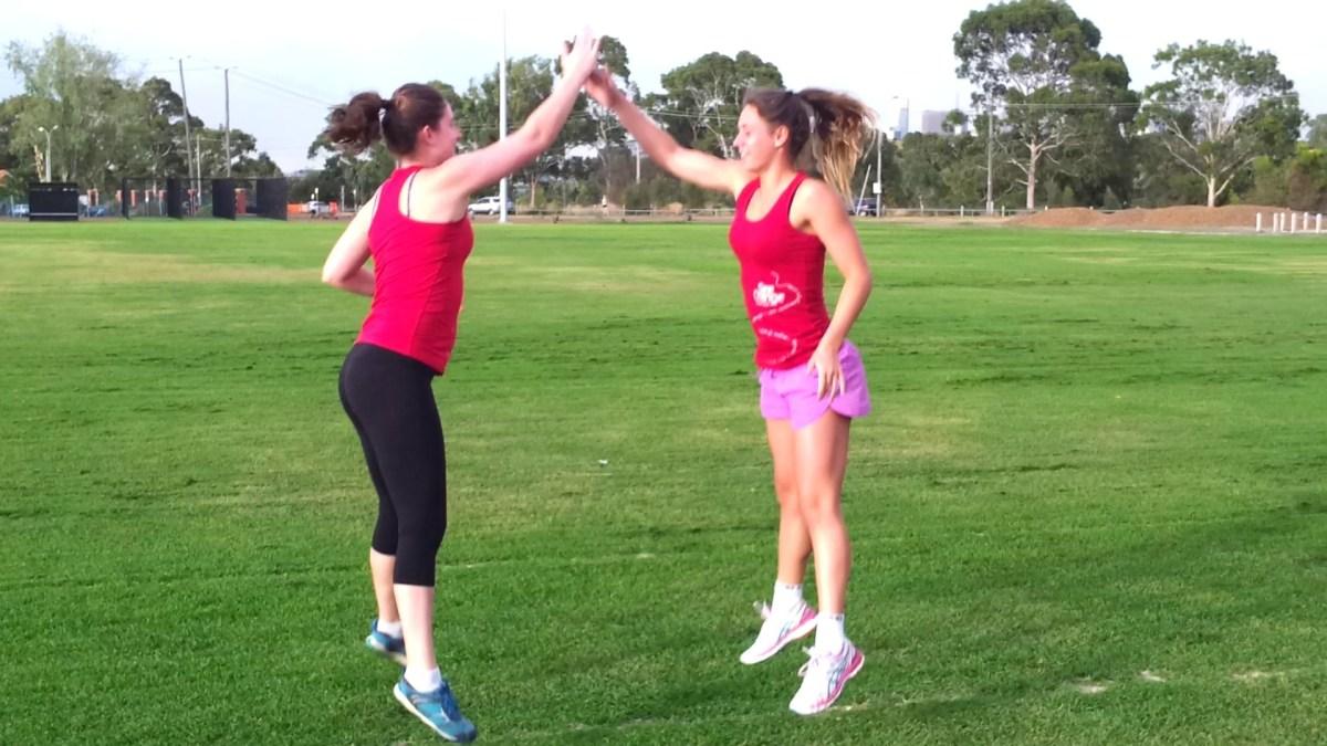 High 5 Jump Squats | Bootcamp Ideas