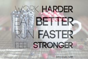 Work, Eat, Run, Feel