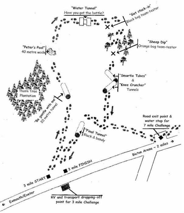 RM, Endurance Course Map