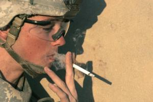 Smoking, Soldier