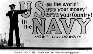 US Navy Recruiting Poster in WWI