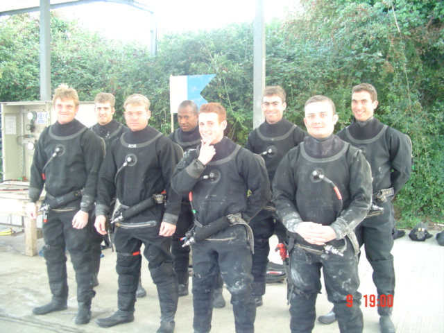 Another group of willing volunteers start a new Army Diver course. Will the smiles last?