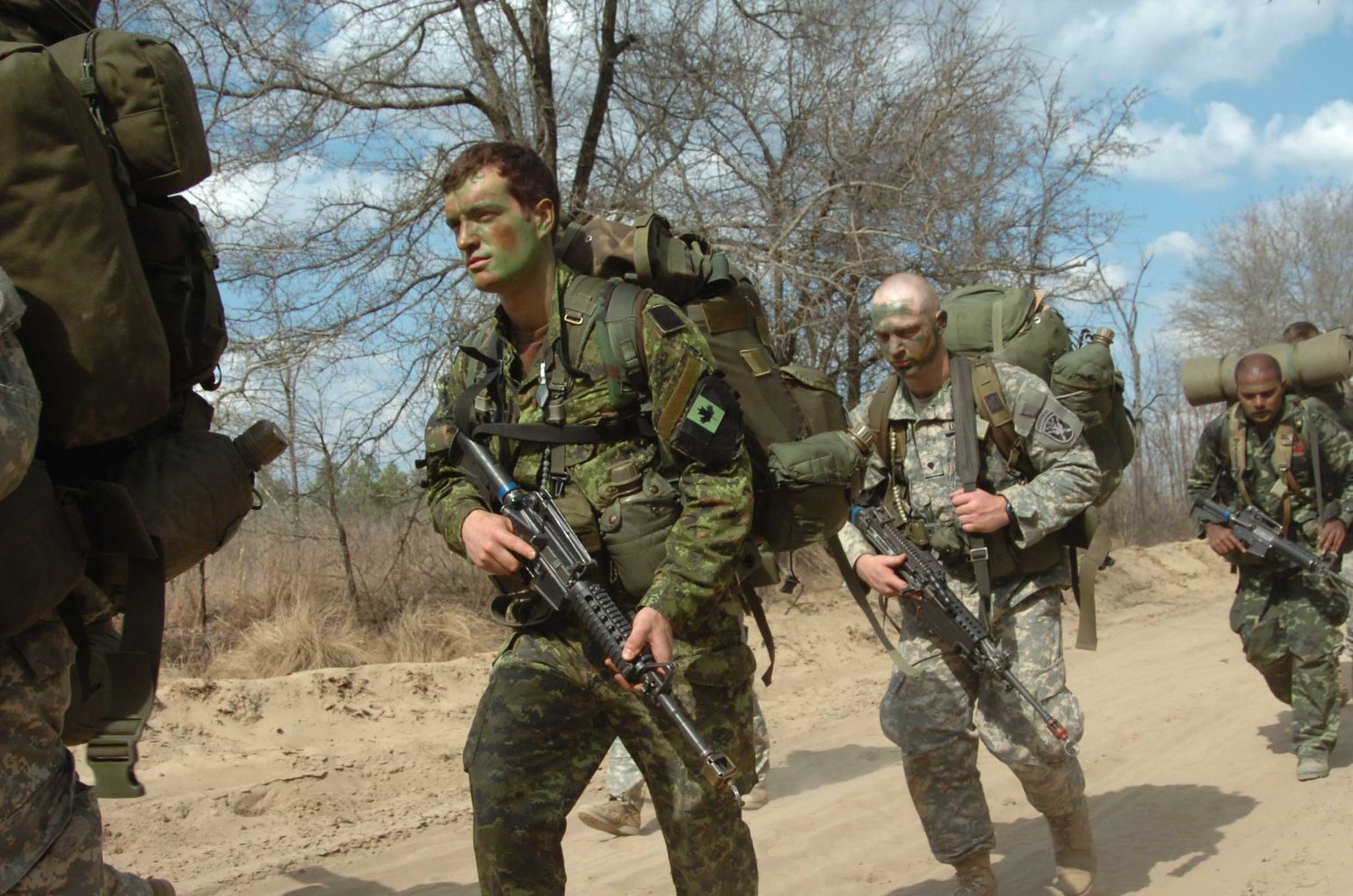 Canadian soldier on the US Army SF 'Q' course.