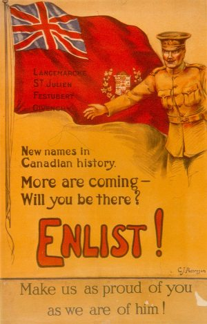 Canadian WW1 Recruiting Poster