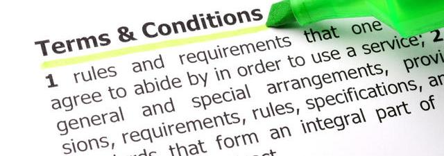 Terms and Conditions of Service (TACOS) dictionary definition.