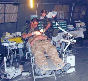 Military dentist in Iraq
