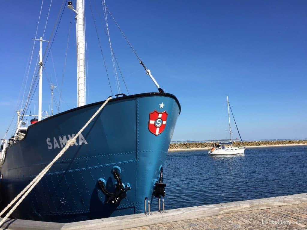 M/S Samka im Hafen von Marstal
