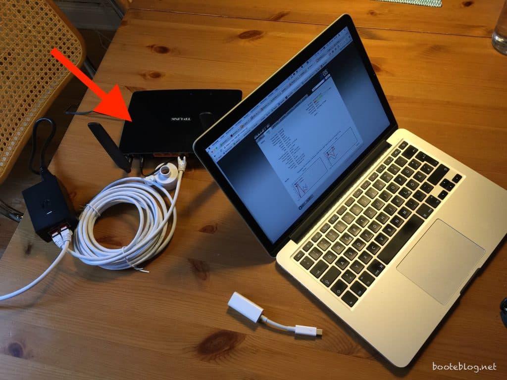 Internet auf dem Boot: TP-Link Router für das Boots-WLAN