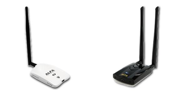 Boot Internet über Alfa Alfa AWUS036NH oder Alfa AWUS036ACH WLAN-USB Empfänger