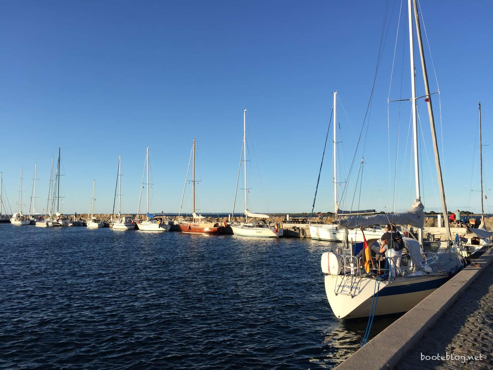 Der alte Hafen von Ærøskøbing, wo wir nur mit dem Schlauchboot festgemacht haben.