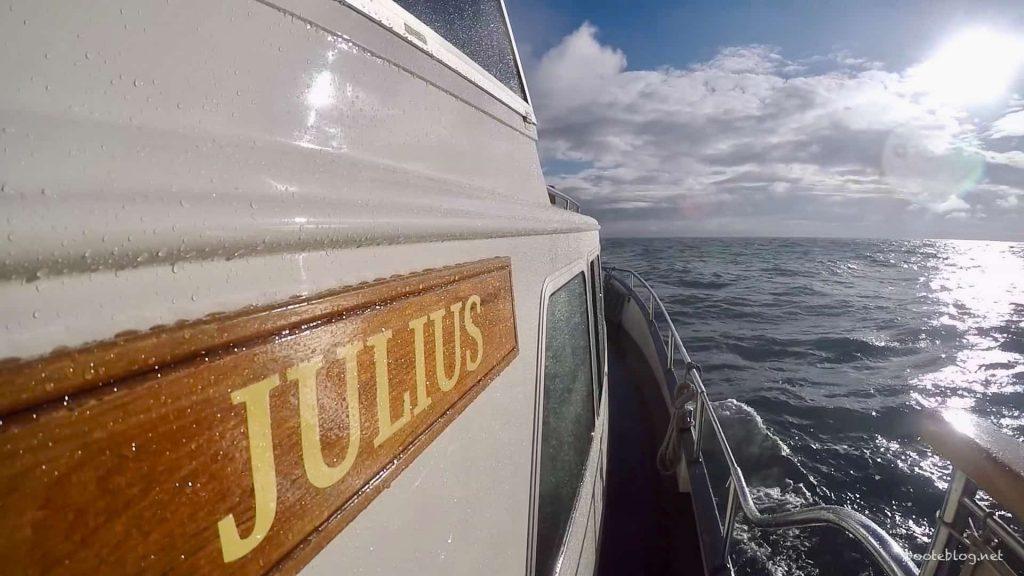 Auf der Nordsee, als es wieder etwas ruhiger war.