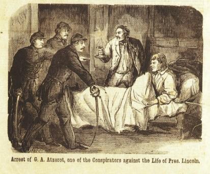 Arrest of Atzerodt National Police Gazette 4-29-1865