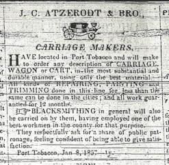 Atzerodt Carriage Shop Advertisement 1857
