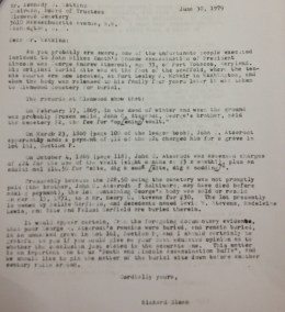 Letter to Glenwood about Atzerodt's burial