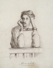 Drawing of Sam Arnold done by military commission member Lew Wallace.