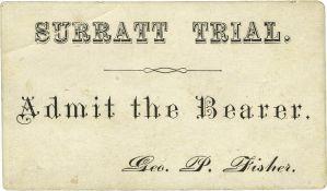 Surratt Trail Ticket