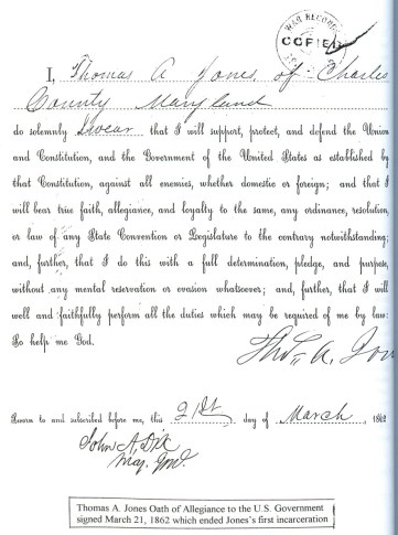 Jones Oath of Allegiance