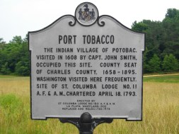 Port Tobacco Sign 7