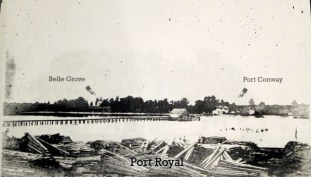 Port Conway from Port Royal with Belle Grove 1906