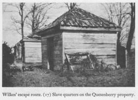 Quesenberry slave quarters Kimmel