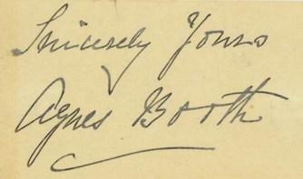 Agnes Booth's Signature ALPLM